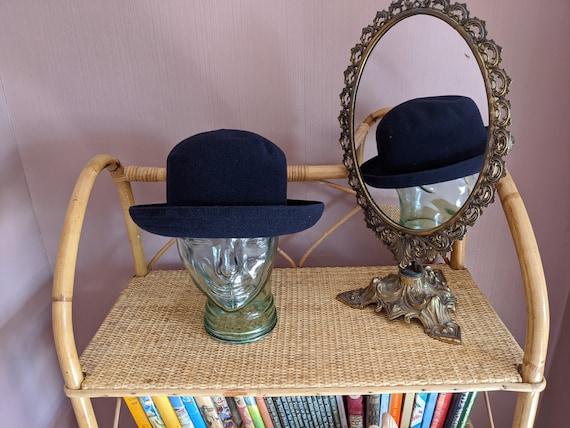Navy wool winter hat, kangol winter hat, bucket ha