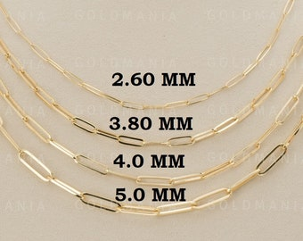 "16-20/"" 14K or Blanc Corde Style Chaîne Collier 0.9 mm"