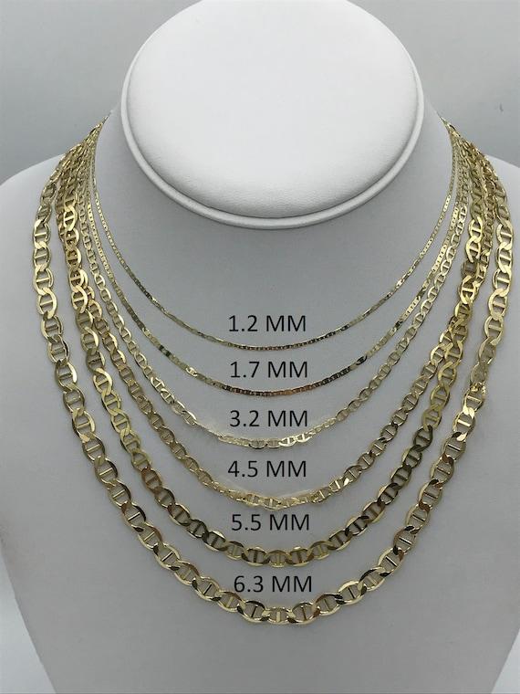 10k Yellow Gold Polished 0.9mm Box Link Chain Bracelet 7-30