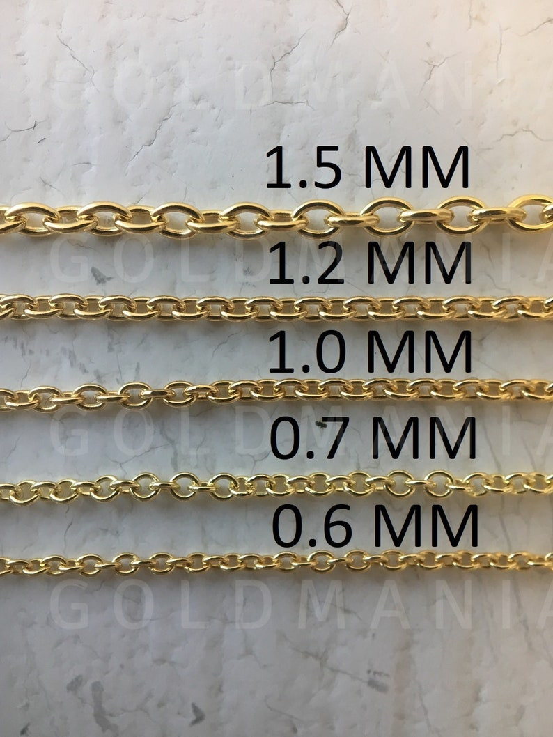 Real 14kt White Gold 1.1mm Baby Rope Chain; 18 inch