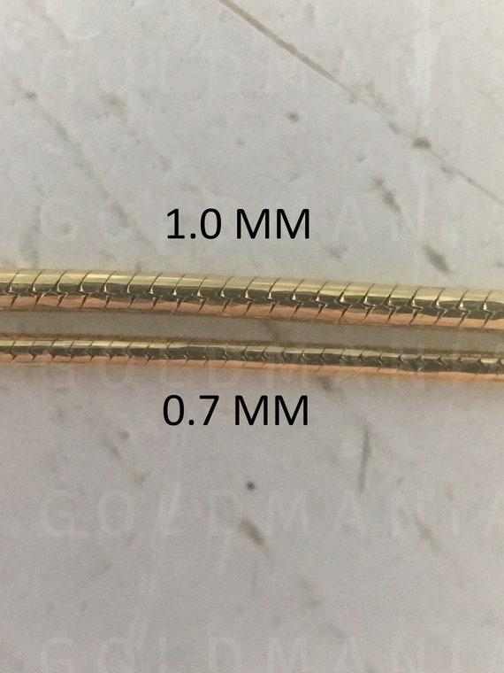 1.40 Mm Wide 16 Chain 10Kt Gold Snake Chain Snake Chain