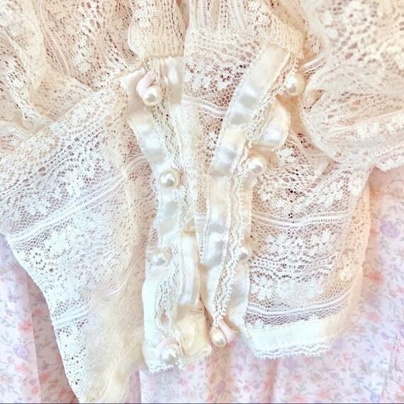 Gunne Sax Vintage 1970's Floral Tie Corset Dress - image 5