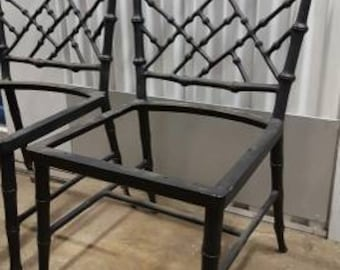 Phyllis Morris Vintage Faux Bamboo Aluminum Chairs Set Of 6 MCM