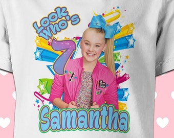 CUSTOM JoJo Siwa Inspired Birthday Shirt T Family Shirts