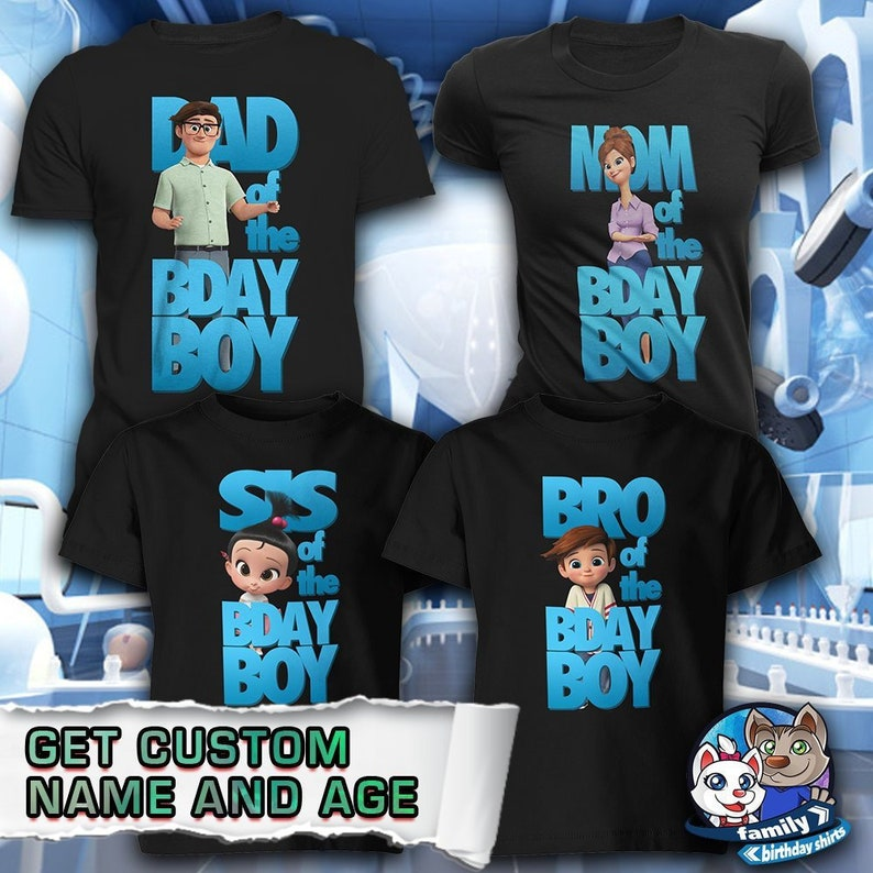 005736083 Custom Boss Baby Inspired Birthday Shirt for your family   Etsy