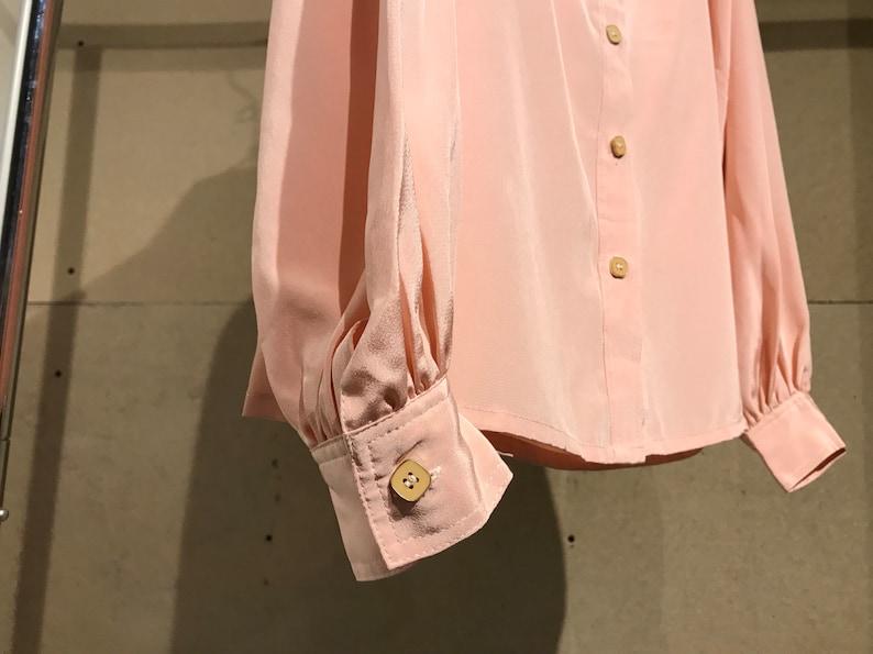 Bubblegum Pink Vintage Japanese Silky Blouse