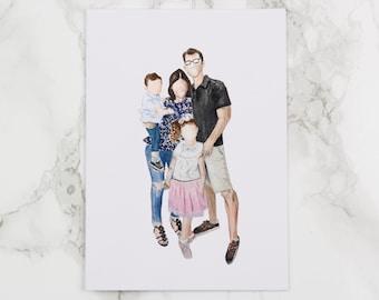 Custom Couple or Family Portrait - Watercolor