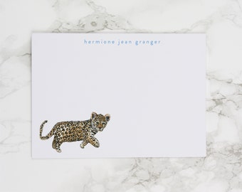 Leopard Cub - Personalized Watercolor Stationery