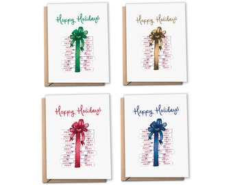 Pizza Delivery Holiday Cards | Christmas Cards | Assorted Colors | Greeting Cards (Pack of 8 or 12)