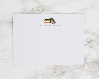 Rainbow Cookie (Italian / Neopolitan) - Personalized Watercolor Stationery