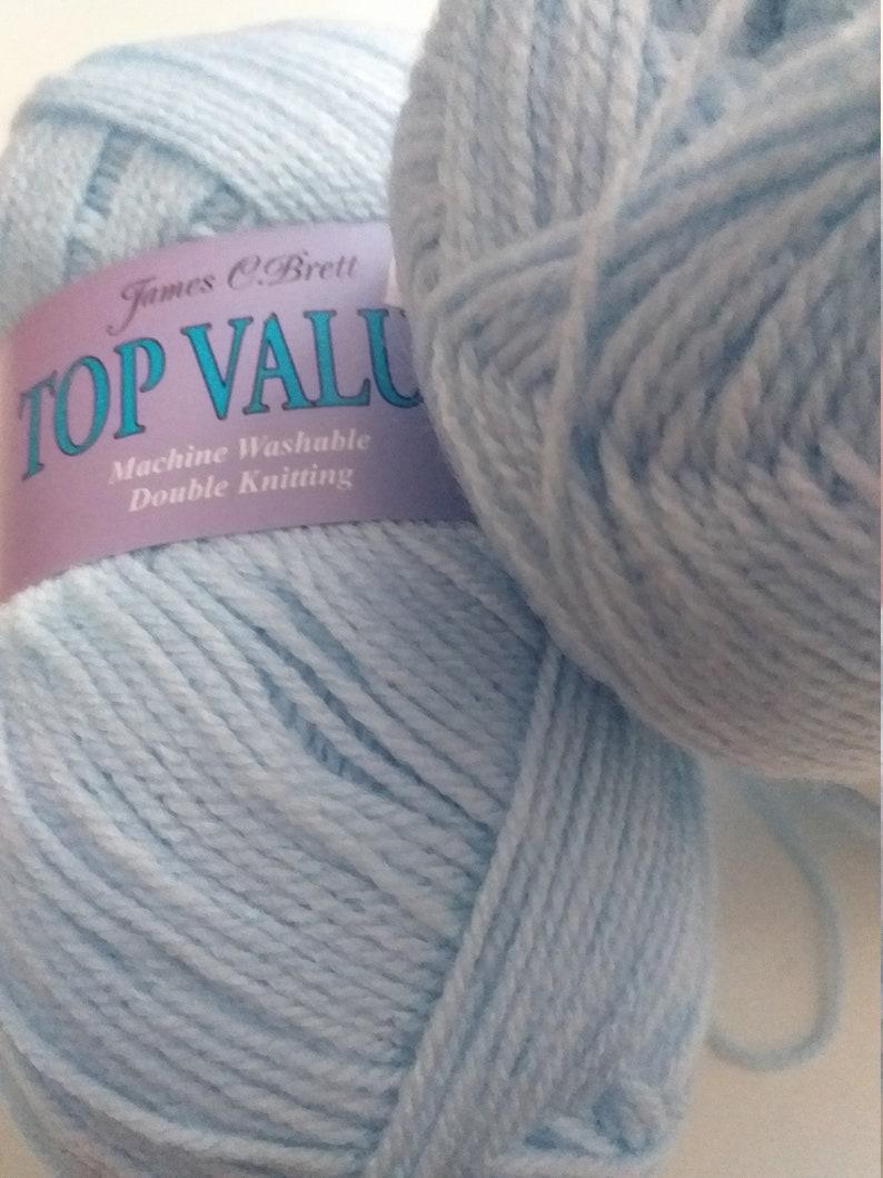 James Brett Top Value Baby Blue Double Knitting Wool baby blue yarn jb8418 blue wool