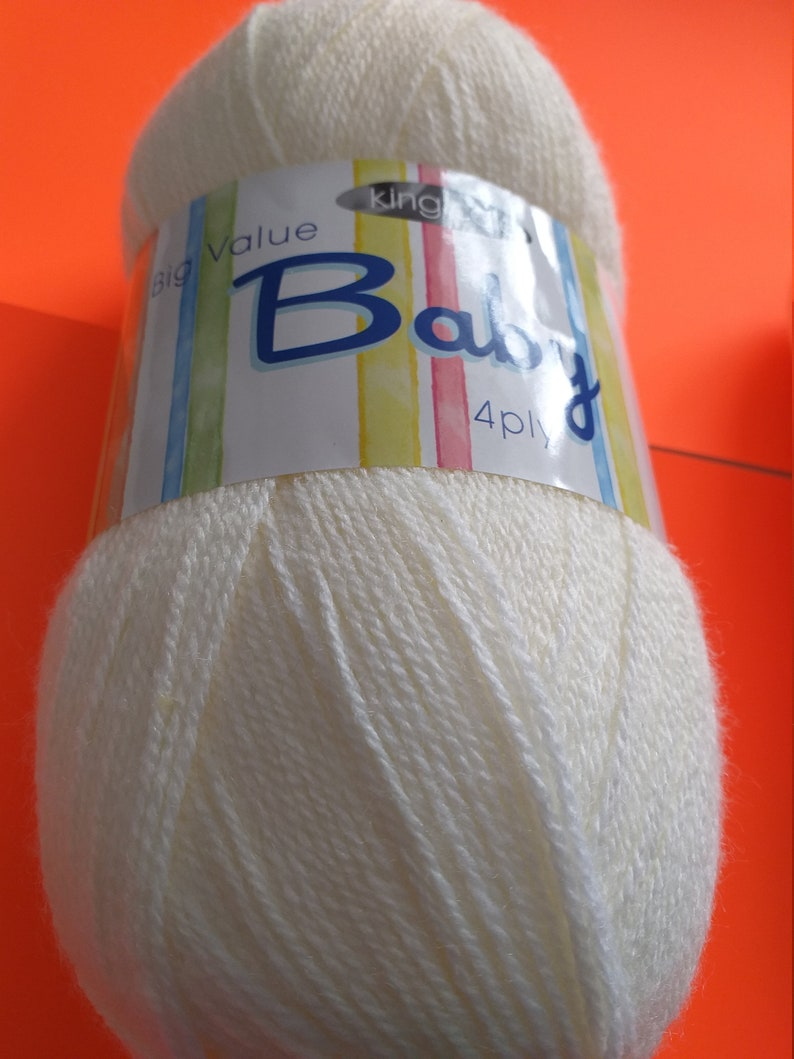King Cole Cream 4 ply baby knitting wool