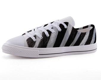 372b3f264c Custom Printed Low-Top Sneakers - Zebra