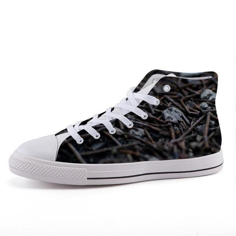 Custom Printed High-Top Sneakers Rusty Nails