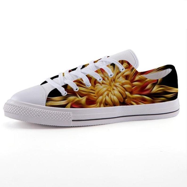 Custom Printed Low-Top Sneakers Spider Mum