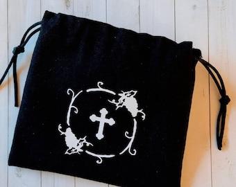 Orthodox Antidoron Prosphora Drawstring Pouch Reusable Cotton Church Bag Pouch