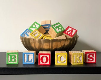 Letter Blocks £4.00 PER INDIVIDUAL LETTER//PICTURE BLOCK GIRLS Personalised