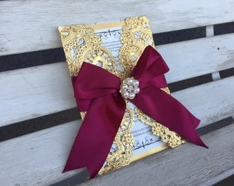 invitation ribbon etsy