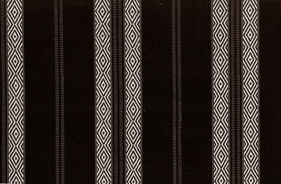 54 Fabric by the YARD Home Decor Upholstery Curtain Pillow Runner Slipcover Drapes 100/% Cotton White On Black Harbor Stripe