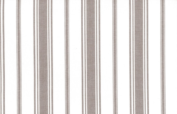Provence Ticking Fabric by the YARD Home Decor Upholstery Curtain Pillow Runner Slipcover Drapes 54 Wide -RedCream 100/% Cotton