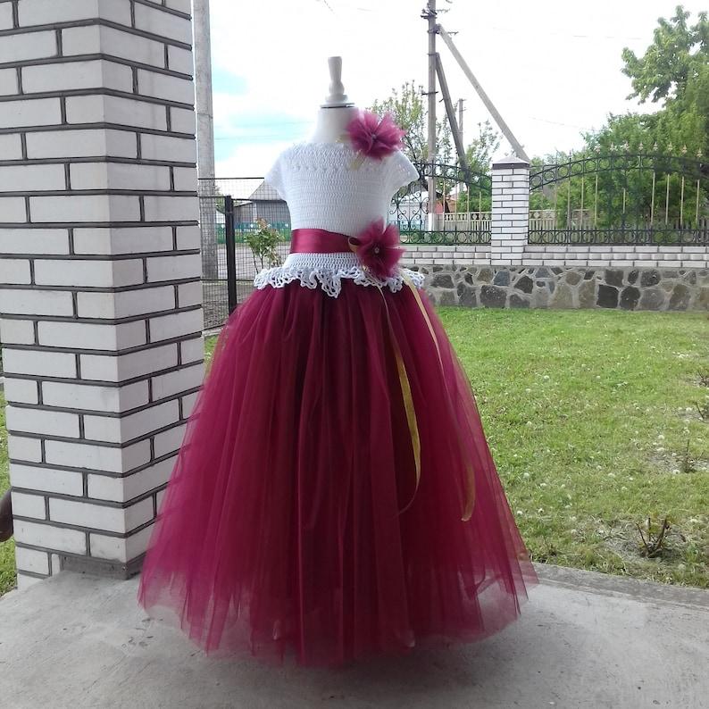 498649816c03 Easter dress for toddlers tutu dress for flower girls burgundy | Etsy