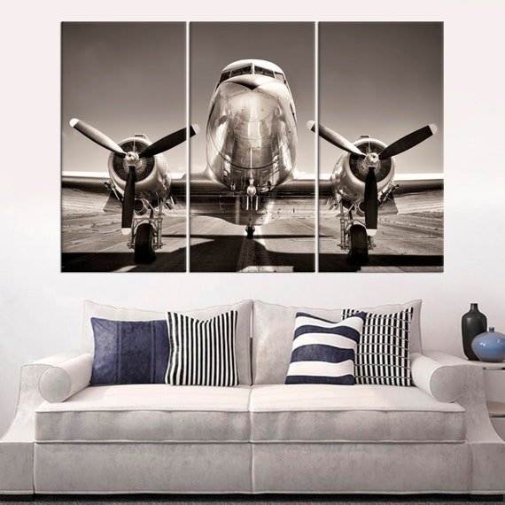 Aeroplane Aircraft Airplane Plane Canvas Print Painting Home Decor Wall Art 5P
