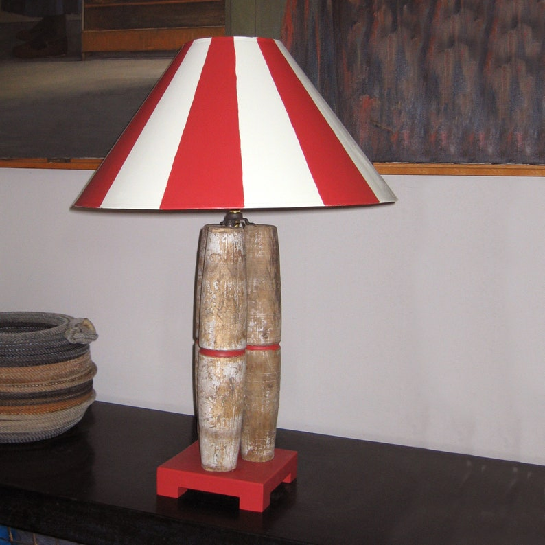 Candlepin Bowling Lamp (Without Shade)