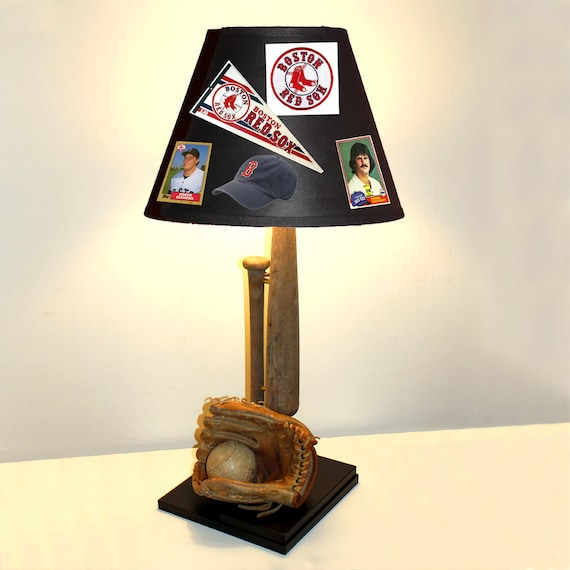 Baseball Lamp with Vintage Bat, Ball and Glove (Custom Team Shade Sold Separately)