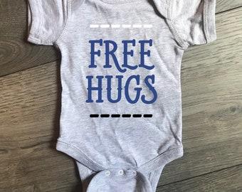 fbf616ec5 FREE HUGS Onesie / Infant / Kids / Boys / Girls / Funny / Cute / Newborn /  Baby / Bodysuit / Can be Customized