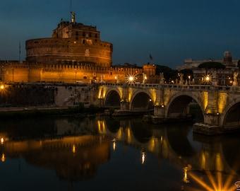 Ponte Sant' Angelo at Night