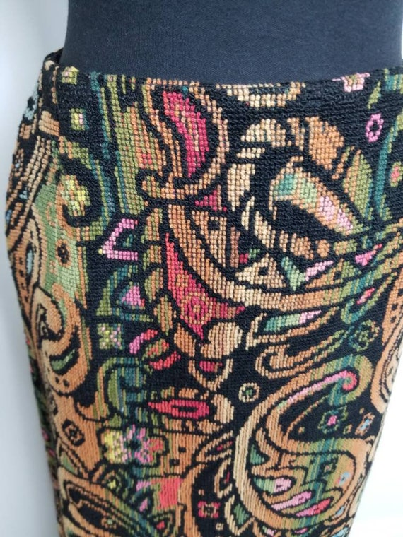 1960's Tapestry Skirt   John Meyer of Norwich   M… - image 4