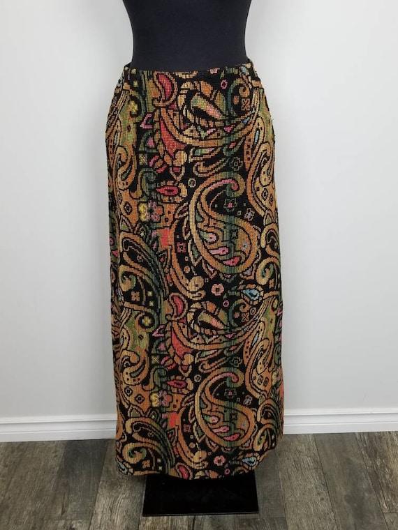 1960's Tapestry Skirt | John Meyer of Norwich | Ma