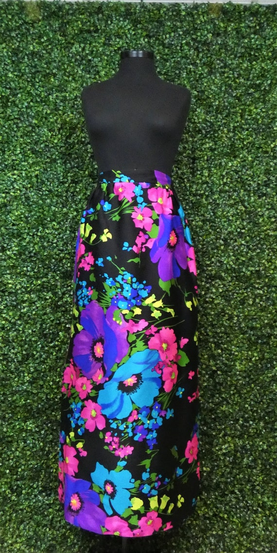 1970's Maxi | Leslie Fay | Personal | Floral | Vin