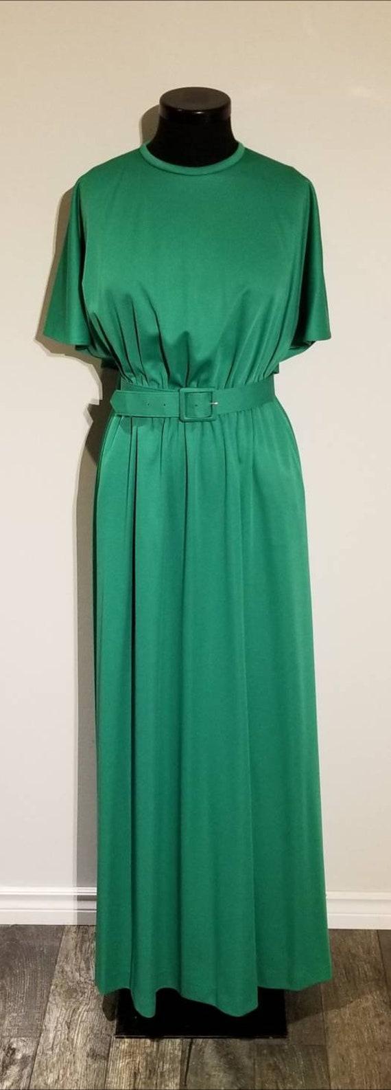 Vintage Maxi Dress   1970's Dress   Mod   Caped  