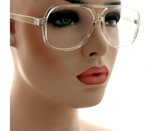a88f72b19fe7 Classic Retro Clear Lens Glasses Crash Fashion Men Women Square Clear Frame