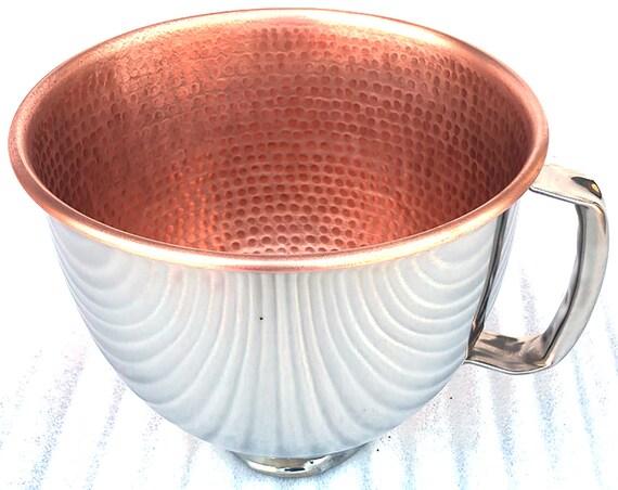 Solid Copper Kitchenaid 5 Qt Mixing Bowl Copper Liner