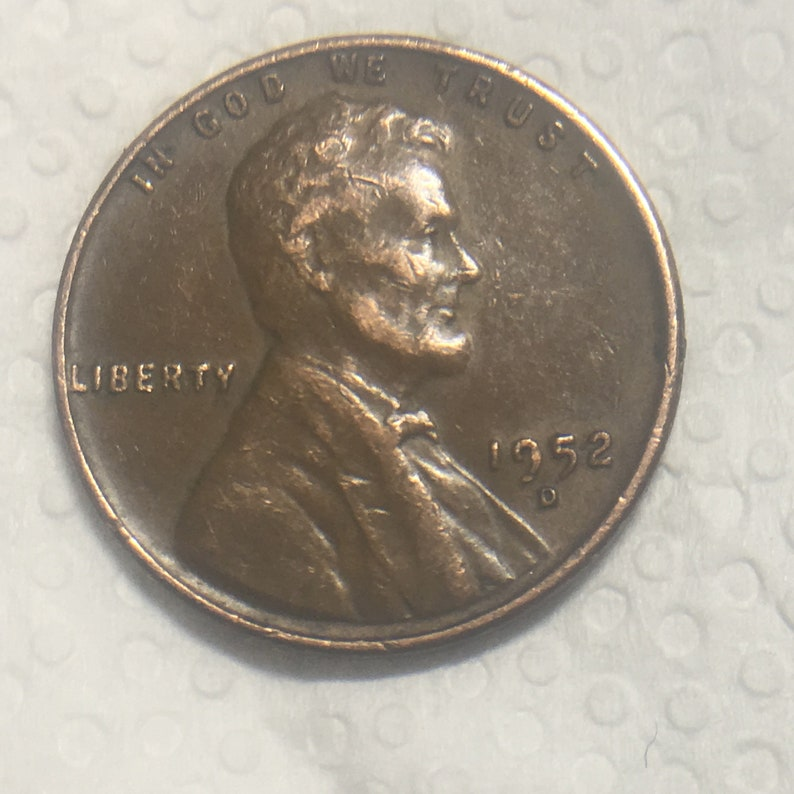 1952 D One Cent Wheat Penny 1952 D.