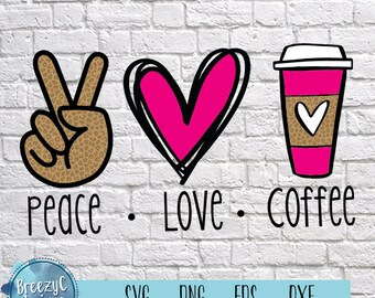 Peace love svg   Etsy