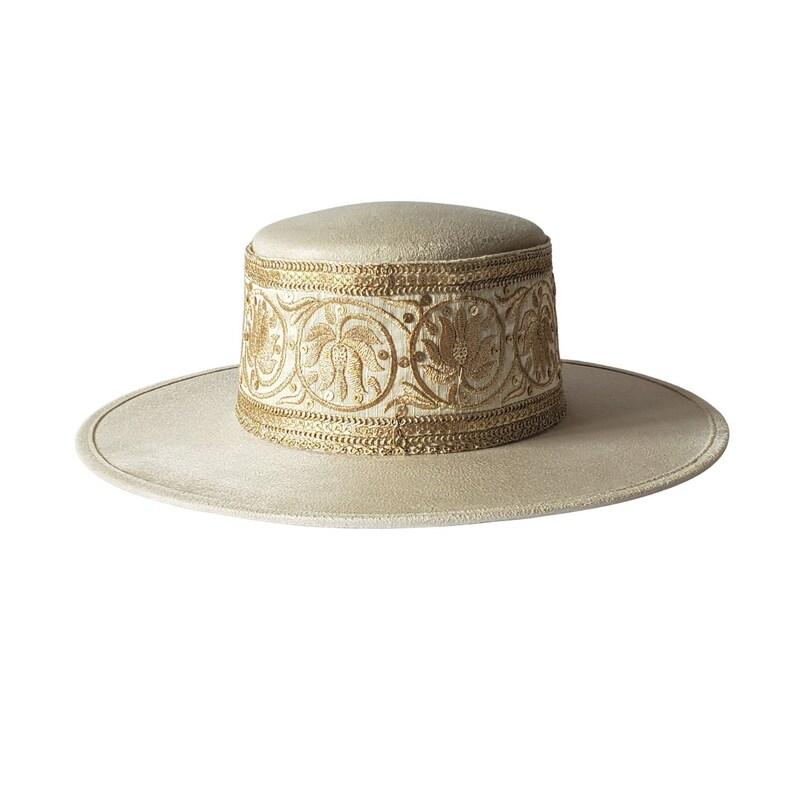 Boater Hat Off White Boater Hat Women  Fall Hat  Zhu Summer Hat