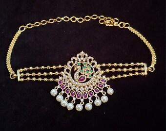 Goldtone Indian Traditional Upper Arm Bracelet Jewelry Cz Stone Armlet Jewellery Bridal & Wedding Party Jewelry Engagement & Wedding