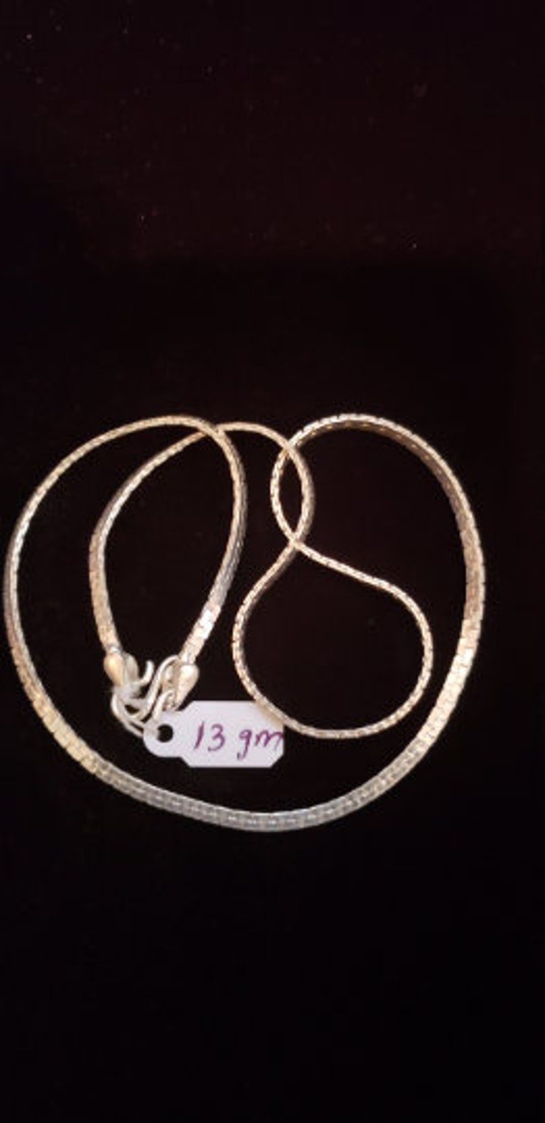 92.5 Sterling silver Chain from India Pure Silver Gift for Him Minimalist necklace Men/'s Silver Necklace