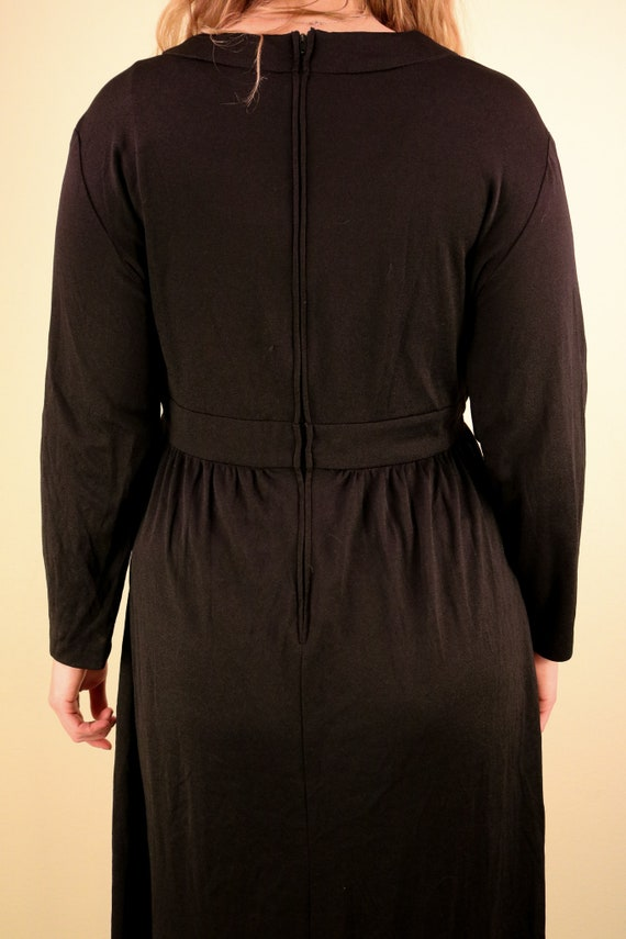 1960's Black Ceremony Witchy Coven Long Sleeve Ma… - image 7