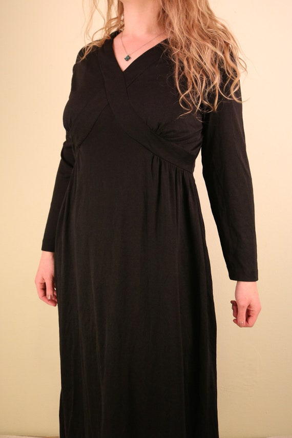 1960's Black Ceremony Witchy Coven Long Sleeve Ma… - image 3