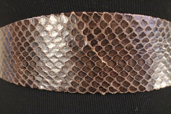 80's Snake Skin Adjustable Statement Belt - image 8