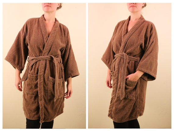 1970's Vintage Chocolate Brown Terry Cloth Short R