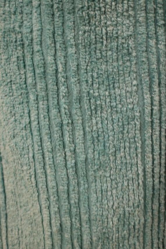 Vintage Teal Chenille Long Sleeve Zip Up Festival… - image 7