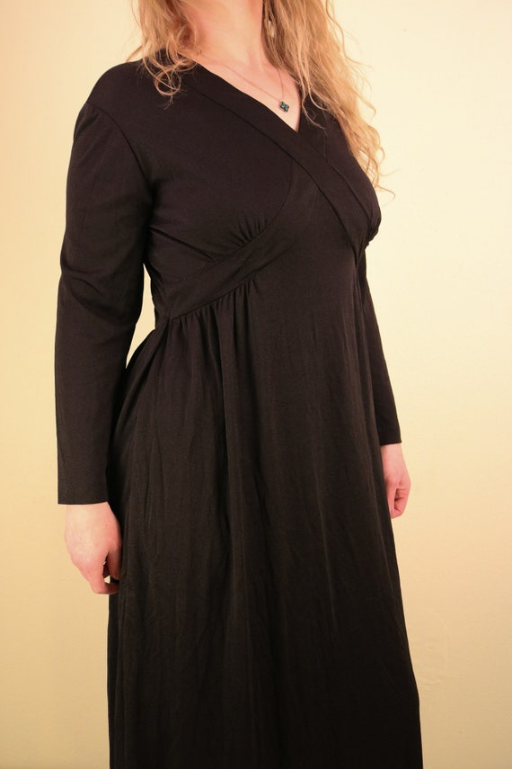1960's Black Ceremony Witchy Coven Long Sleeve Ma… - image 4