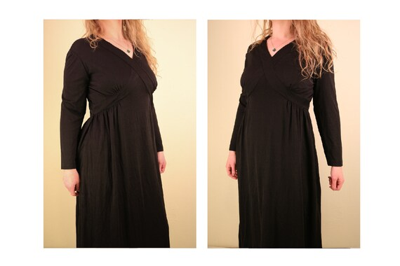 1960's Black Ceremony Witchy Coven Long Sleeve Ma… - image 1