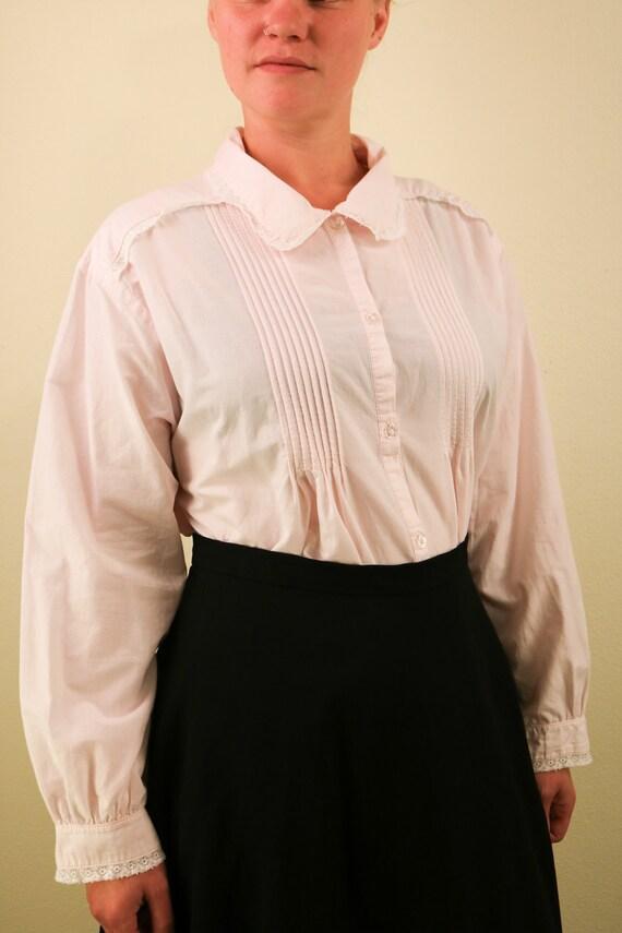 1990's Vintage Laura Ashley Light Pink Long Sleev… - image 3