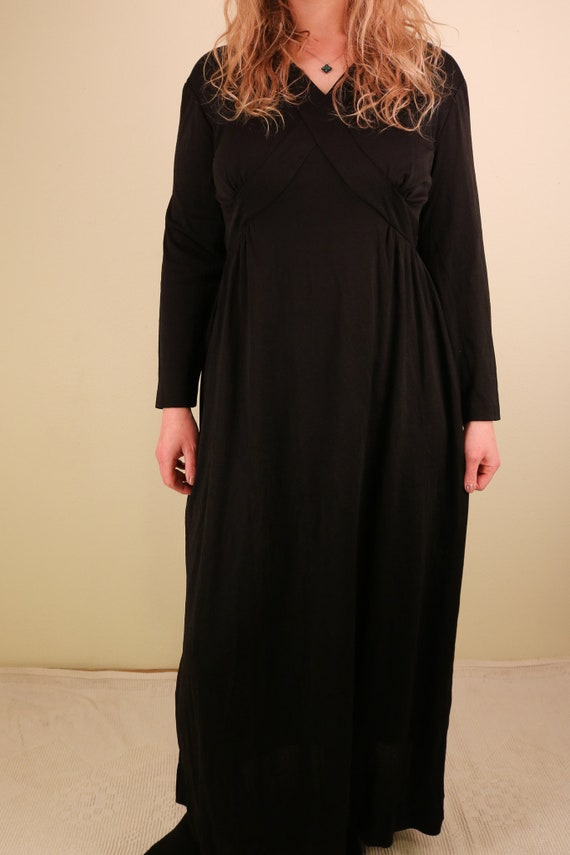 1960's Black Ceremony Witchy Coven Long Sleeve Ma… - image 8